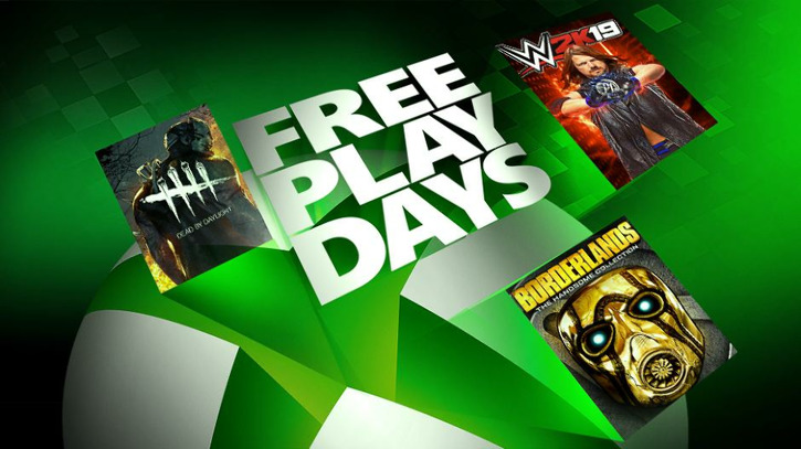 Xbox Free Play Days: WWE 2K19, Borderlands: The Handsome Collection, Dead by Daylight