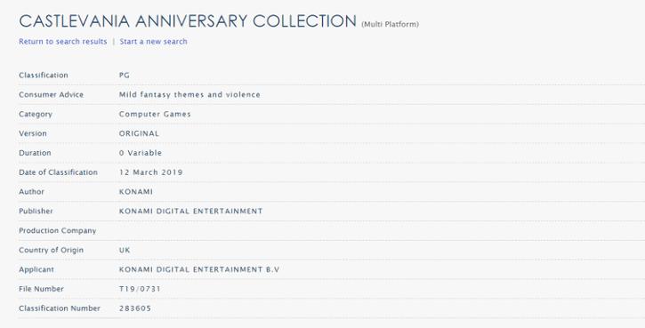 [Слух] Готовится к выходу сборник Castlevania Anniversary Collection