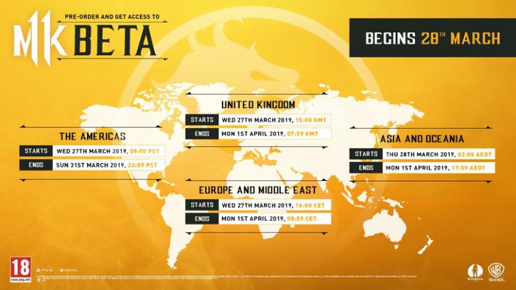 Трейлер бета-теста Mortal Kombat 11