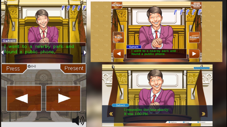 Сравнение игр сборника Phoenix Wright: Ace Attorney Trilogy для Nintendo DS, iOS и Switch